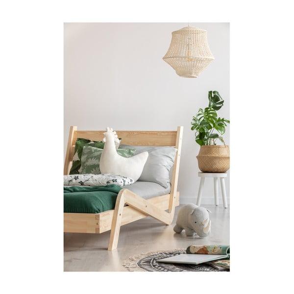 Pat din lemn de pin pentru copii Adeko Zigzag, 90 x 140 cm