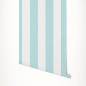 Tyrkysovo-bílá samolepicí tapeta LineArtistica Elettra, 60 x 300 cm