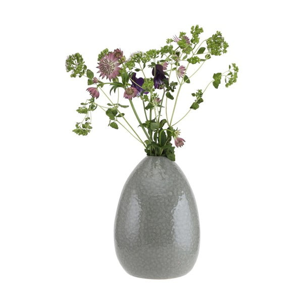 Šedá vzorovaná váza A Simple Mess Ada, ⌀15cm