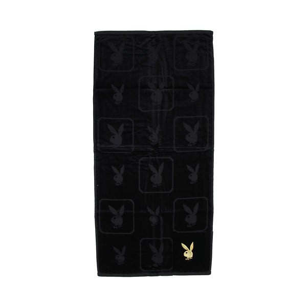 Osuška Playboy Monogram Black, 50x100 cm