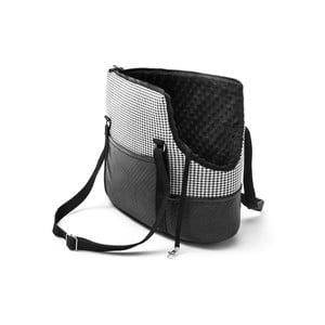 Černo-bílá cestovní taška pro psa Marendog Pepita, 18 x 42 x 33 cm