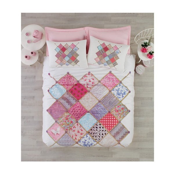 Lenjerie de pat cu cearșaf Natali, 200 x 220 cm