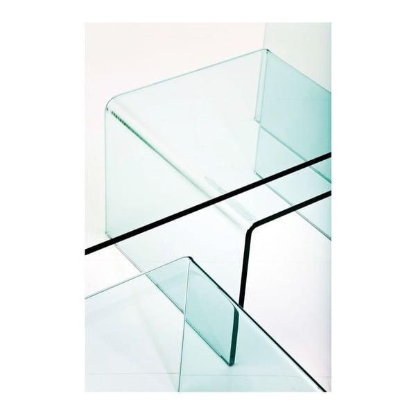 Sada 3 skleněných konferenčních stolků Kare Design Clear Club