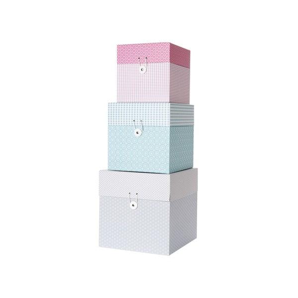 Sada 3 krabiček Grid Ton Sur Ton