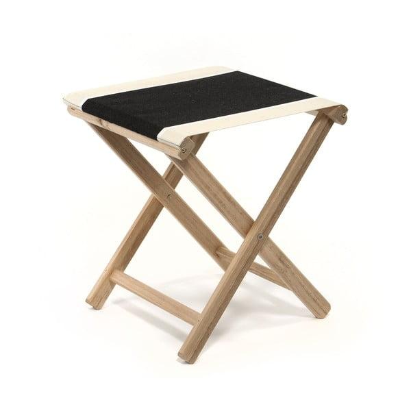 Skládací stolička Beach, černá