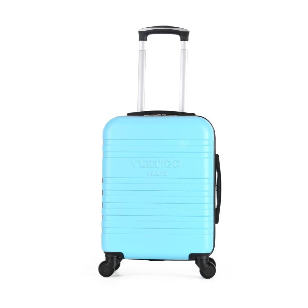 Světle modrý cestovní kufr na kolečkách VERTIGO Valises Cabine Cadenas Muela