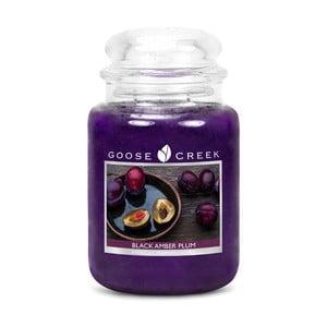 Vonná svíčka ve skleněné dóze Goose Creek Černá jantarová slivovice, 0,68 kg