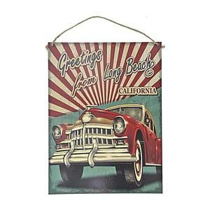 Nástěnná cedule InArt Red Car, 30x40 cm