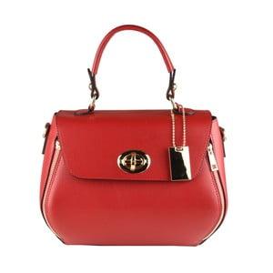Červená kožená kabelka Matilde Costa Bali