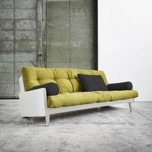 Canapea extensibilă Karup Indie White/Avocado Green/Dark Grey