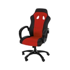 Červená kancelářská židle Actona Race