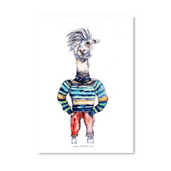 Plakát Nigel the Llama, 30x42 cm