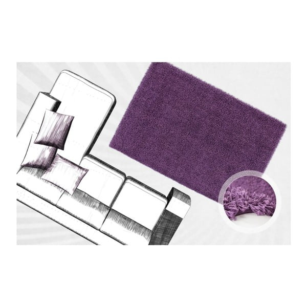 Koberec Oslo Violet, 80x150 cm