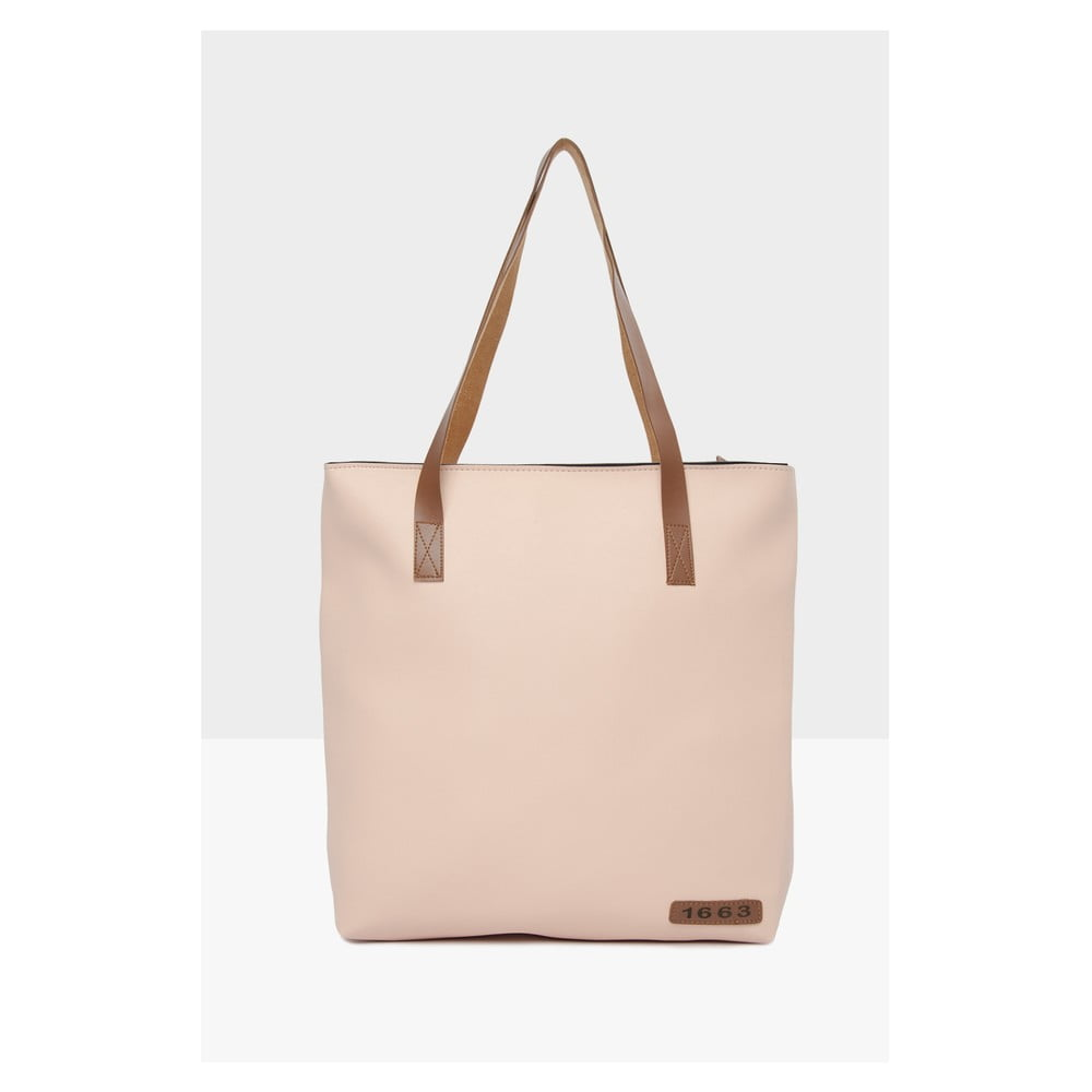 Světle růžová kabelka Mori Italian Factory Carma