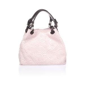 Růžová kožená kabelka Massimo Castelli Eriberti