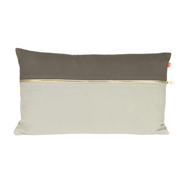 Polštář PT LIVING Duo Tone Grey, 50 x 30 cm