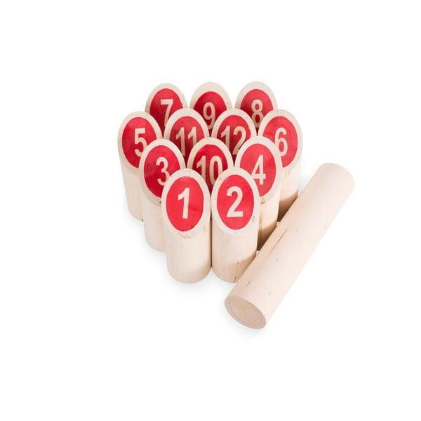 Zahradní hra pro celou rodinu Kubb s červenými čisly