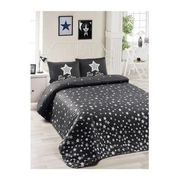 Set cuvertură de pat și față de pernă Mismo Cula, 160 x 220 cm, negru imagine