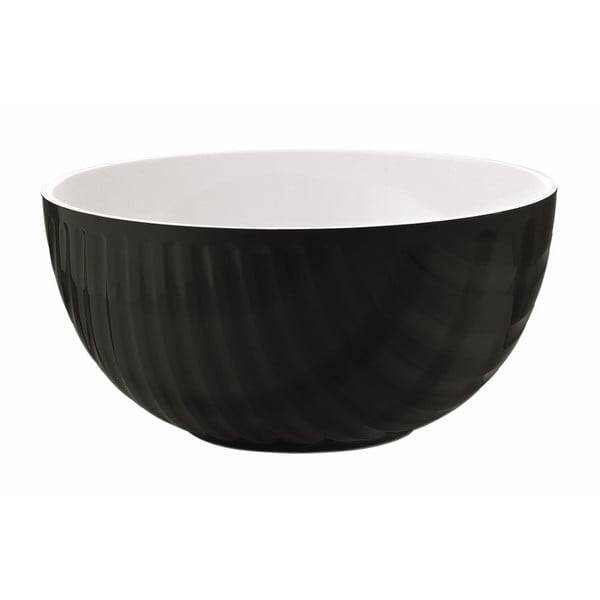 Černo-bílá miska Fratelli Guzzini Mirage, 20 cm