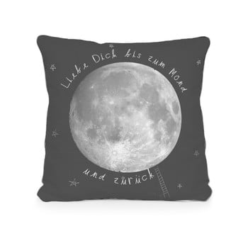 Față de pernă reversibilă din microfibră Really Nice Things Moon, 45 x 45 cm poza