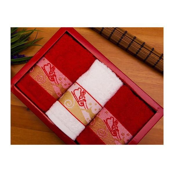 Sada 3 ručníků Santa Claus, 30x50 cm