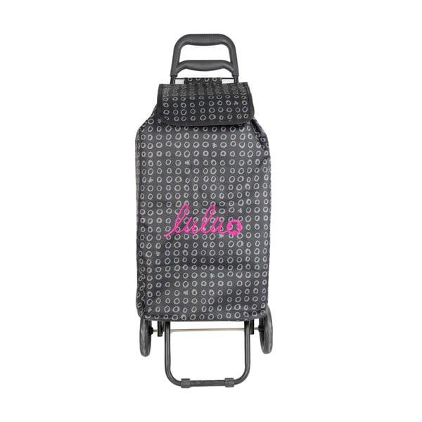 Czarna torba na zakupy na kółkach Lulucastagnette Ridey, 37 l