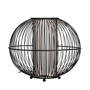 Černá stolní lampa Ixia Carla, ⌀33cm