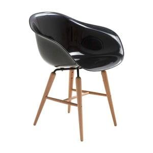 Scaun Kare Design Armlehe Forum, negru