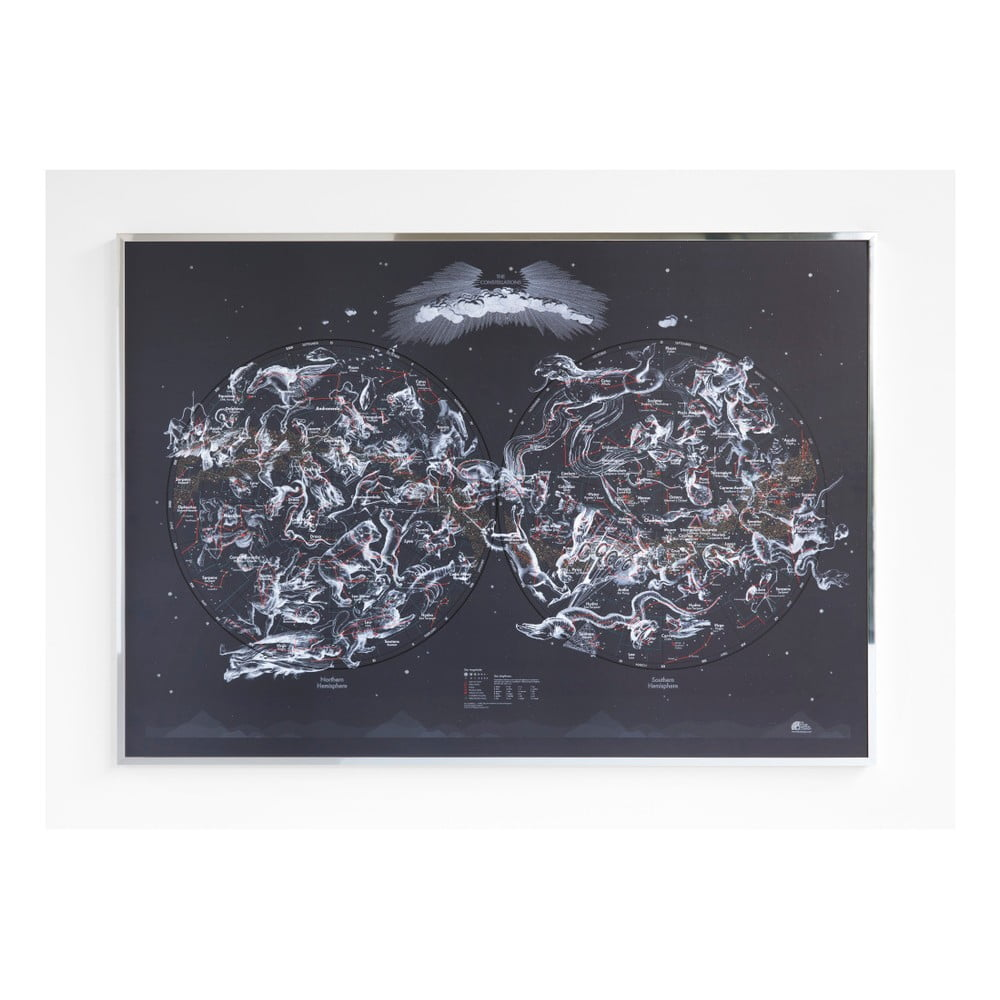 Magnetická mapa oblohy The Future Mapping Company The Constellation, 100x69cm