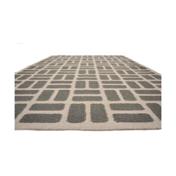 Ručně tkaný koberec Grey Squares, 120x180 cm