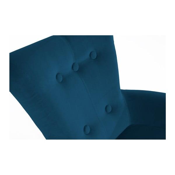 Petrolejově modré křeslo Max Winzer Tilly