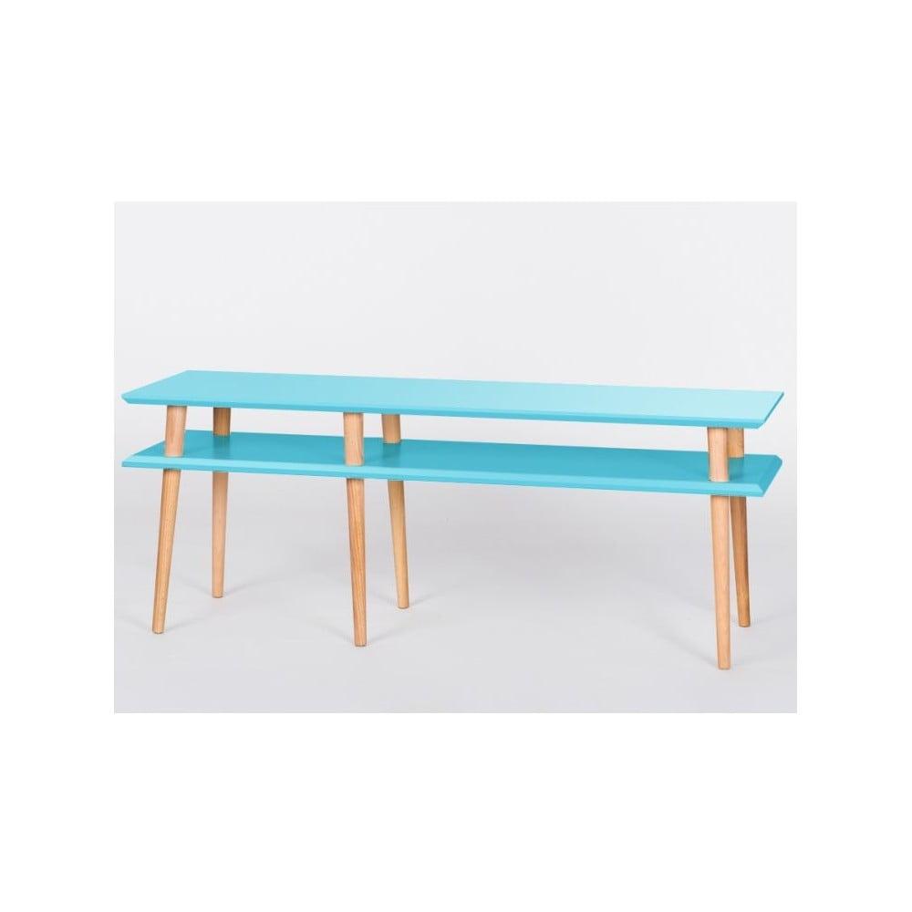 Konferenční stolek Mugo Dark Turquoise, 139 cm (šířka) a 45 cm (výška)