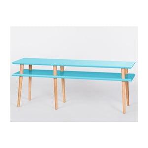 Konferenční stolek Mugo Dark Turquoise, 159 cm (šířka) a 45 cm (výška)