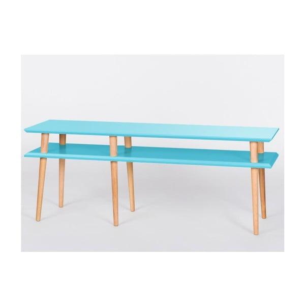 Konferenční stolek Mugo Dark Turquoise, 119 cm (šířka) a 45 cm (výška)