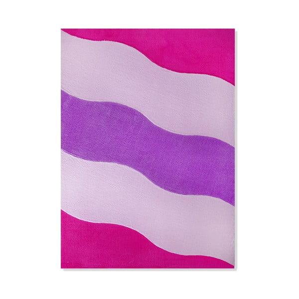 Dětský koberec Mavis Pink Waves, 100x150 cm
