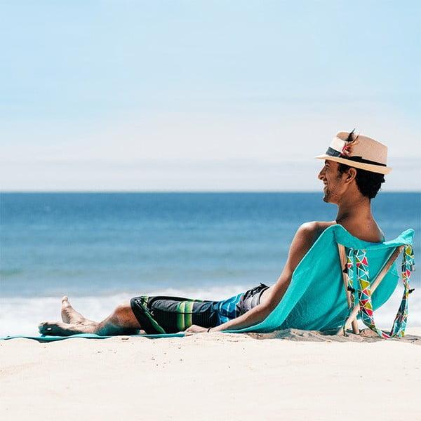 Skládací plážové lehátko a osuška v jednom Sun Seat Water Geo