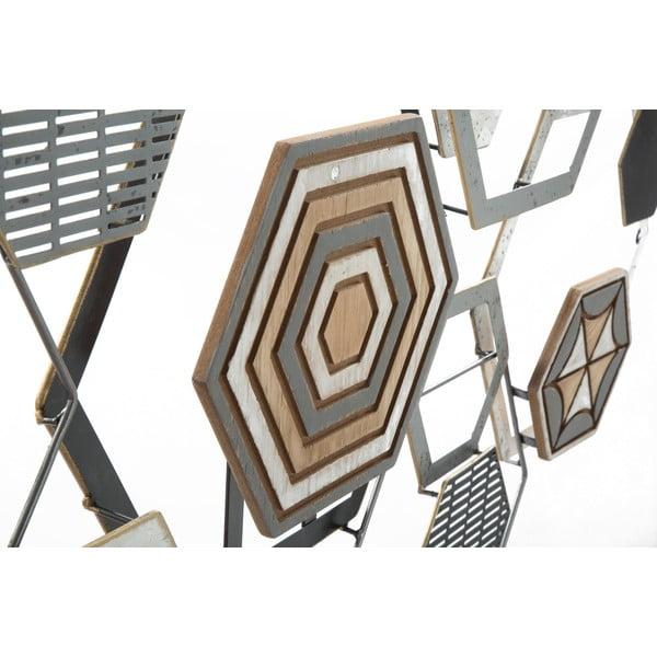 Decorațiune metalică pentru perete Mauro Ferretti Grid, 135x67,5cm