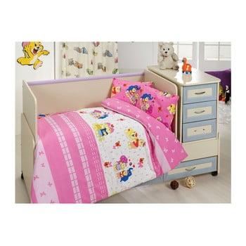 Lenjerie de pat din bumbac pentru copii Pink Dreams 100 x 150 cm