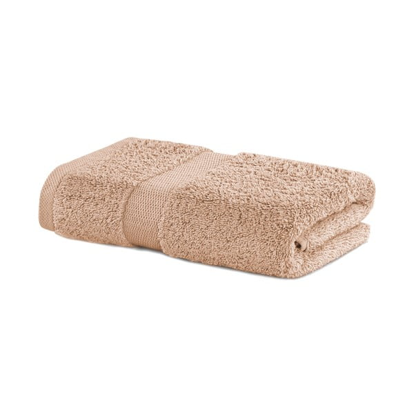 Béžový uterák DecoKing Marina, 50 × 100 cm
