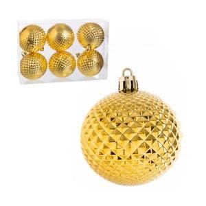 Set 6 globuri pentru Crăciun Unimasa, galben
