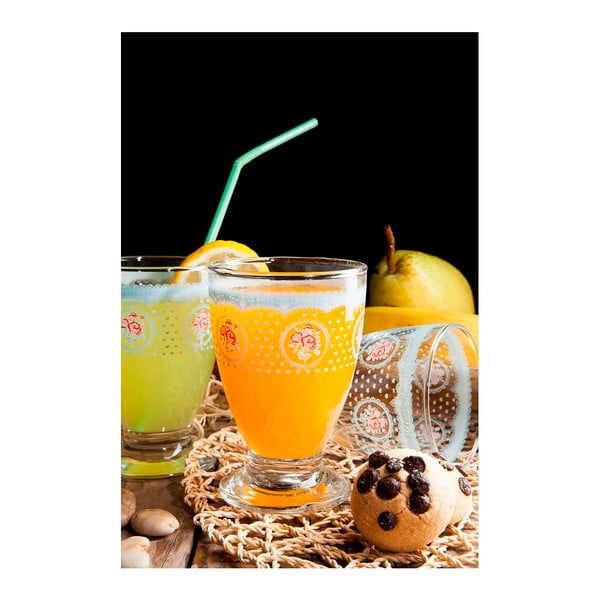 Sada 3 modrých sklenic Derin