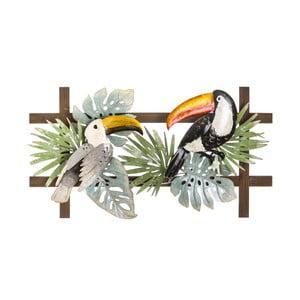 Nástěnná kovová dekorace Tropicho