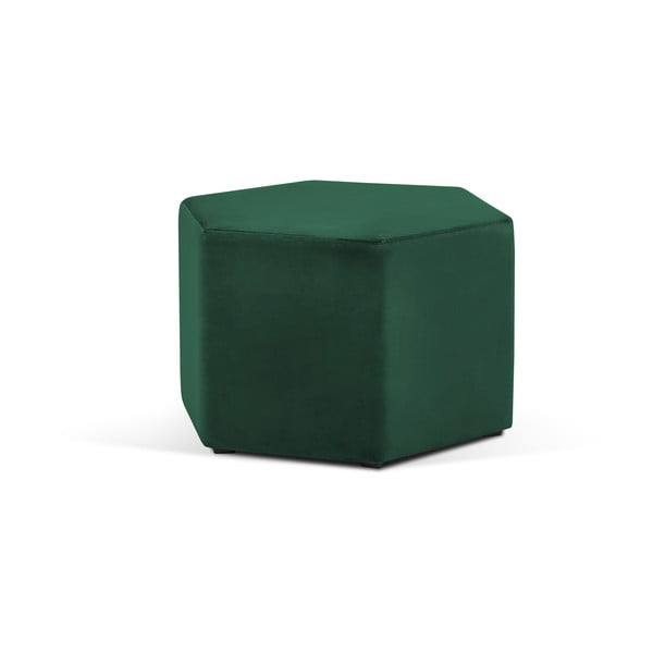 Lahvově zelený puf Milo Casa Marina, ⌀60cm