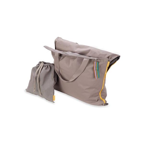 Skládací lehátko Hhooboz 150x62 cm, béžové