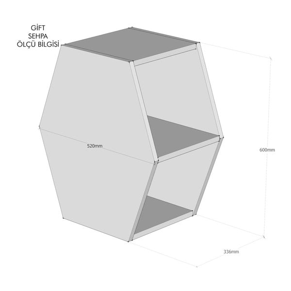 Măsuță cu spațiu de depozitare Hexagon