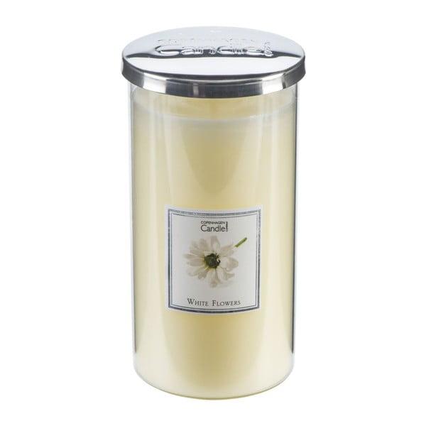 Aroma svíčka Copenhagen Candles  White Flowers Talll, doba hoření 70 hodin