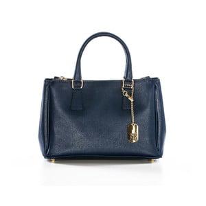 Tmavě modrá kabelka z pravé kůže Federica Bassi Normani