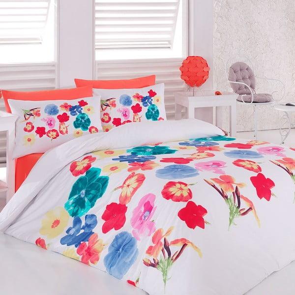 Povlečení s prostěradlem Color Flower, 200x220 cm