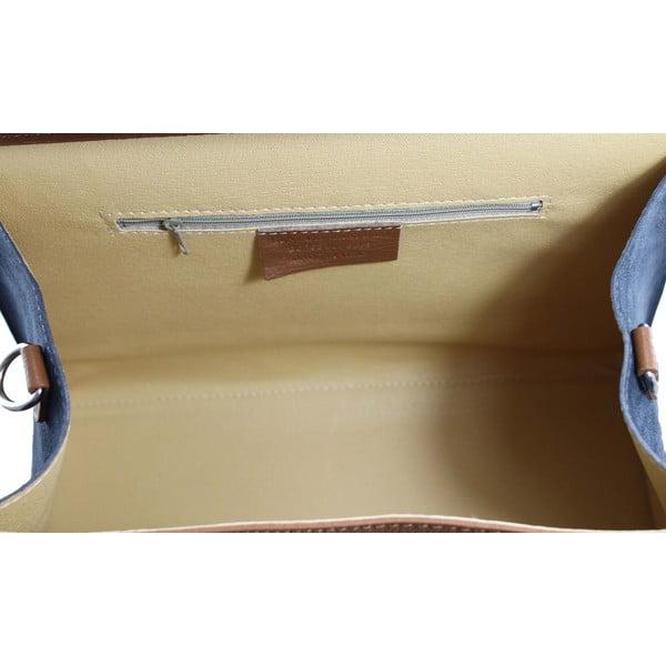 Kožená kabelka Betty Cuoio/Beige/Blue