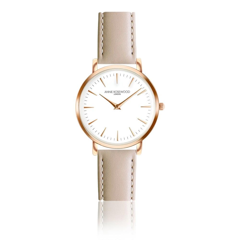Dámské hodinky sbéžovým koženým řemínkem Annie Rosewood Bella